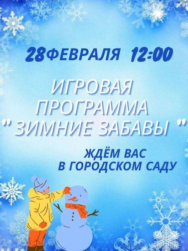 Игровая программа «Зимние забавы»
